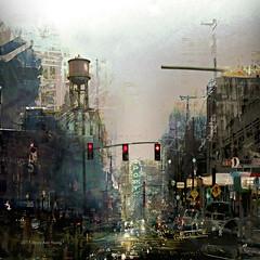 Boulevard of Dreams (Stacy Ann Young) Tags: digitalart photocomposite portland cityscapeart digitalpainting