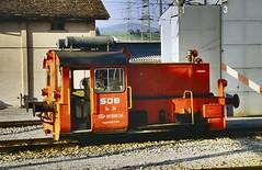 SOB diesel shunter Tm34 Samstagern (jc_snapper) Tags: südostbahn switzerland tm jung baureihe323 köf deutschebundesbahn db sob samstagern train trein railway railroad diesellocomotive dieselloco vlok