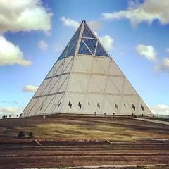 Palace of Peace and Reconciliation (Aitor Montaña) Tags: fractal astana kazakhstan pyramid palaceofpeaceandreconciliation