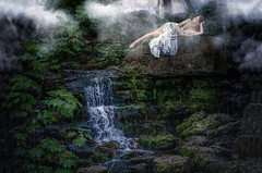 Chasing Waterfalls (sophie_merlo) Tags: waterfall model models beauty mist fantasy
