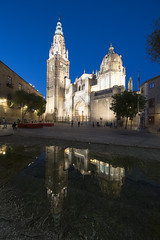 Spain. (richard.mcmanus.) Tags: spain toledo historic cathedra night bluehour building architecture religion cathedral
