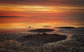 Surreal Seaside Sunset