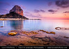 Spain - Calp -  Calpe's Peñón de Ifach Rock at shores of  Mediterranean Sea at Sunset (© Lucie Debelkova / www.luciedebelkova.com) Tags: calp calpe alicanteprovince spain spanish españa kingdomofspain reinodeespaña southwesterneurope country europe europeanunion eu es wonderful fantastic awesome stunning beautiful breathtaking incredible lovely nice best perfect world exploration trip vacation holiday place destination location journey tour touring tourism tourist travel traveling visit visiting sight sightseeing wwwluciedebelkovacom luciedebelkova luciedebelkovaphotography photography landmark dusk bluehour twilight night sunset