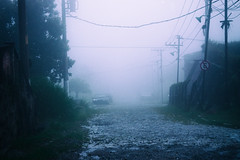 All is quiet... (AtEternitysGate) Tags: abandoned alone anxiety dark rain landscape melancholy empty ethereal decay ruin rural urbex forgotten street taciturn mystery gloomy lonely countryside photography solitude mist longing nostalgia obscure fog sorrow old lonesome