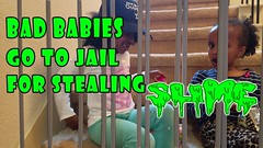 REAL VS BAD BABY CRYING GOES TO JAIL FOR STEALING SLIME AND CANDY & ESCAPES (adansisters) Tags: real vs bad baby crying goes to jail for stealing slime and candy escapes