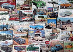 Motoring Memories (pefkosmad) Tags: jigsaw puzzle hobby leisure pastime gibson motoringmemories cars autos automobiles motorcars motoring nostalgia 1000pieces missingpiece art advertising adverts advertisements 1950s