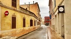 """""""Perspectiva"""" (atempviatja) Tags: color fachadas menorca ciudadela ciudad calle"""