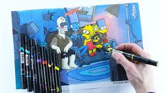 Simpsons Drawing (Kitslams Art) Tags: simpsons family drawing illustration speedart speeddrawing youtube artist art halloween bartsimpson homer lisasimpson marge