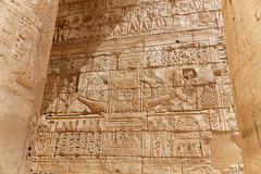 Sacred Barque in Relief (Chris Irie) Tags: medinethabu boat relief temple egypt luxor