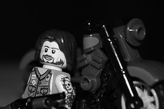 Loaded (lego slayer) Tags: biker shit red citizen brick minifig co brickarms lego motorcycle black white