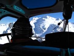 pilot view, heliskiing argentina