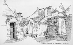Courtyard of Trulli houses, Alberobello, 18th April 2017