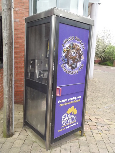 St Vincent Street, Ladywood - phone box - Cadbury World advert