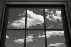 Sky View (frntprchprss) Tags: sky blackandwhite window clouds view massachusetts berkshires lenox themount jamesgehrt