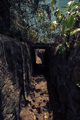 Journey thru Vietnam war time trenches.. (tommiblom) Tags: military vietnam jungle historical trenches vietnamwar bunkers guntower militaryareanophotography