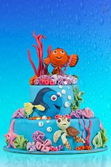 Torta Nemo (AnDa874) Tags: baby cake umbrella dessert nemo sweet flash pixar odin softbox torta dory speedlite canonspeedlite430ex canonspeedlite580ex lampista strobist scorza allaricercadinemo canoneos5dmarkii phottix canonef70200mmf28lisiiusm
