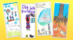 Kids Summer Reading bookmarks! (Enoch Pratt Free Library) Tags: city urban cute art public kids youth children reading artwork colorful library libraries contest free drawings maryland bookmarks handdrawn summerreading baltimroe 2013