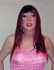 (Leihia1) Tags: red sexy tv dress cross girly femme makeup tranny transvestite lip stick trans dresser gurl effeminate tgurl