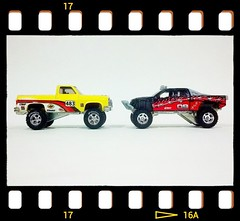 Chevy & Ford Face-off (DJ Witty) Tags: hot ford chevrolet truck toy toys offroad 4x4 wheels pickup pickuptruck f150 vehicles chevy hotwheels vehicle trucks diecast offroad4x4 flickrandroidapp:filter=none