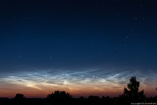 Noctilucent clouds over northern Germany...