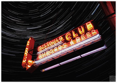 """ THE MO CLUB"" (WNDLST) Tags: longexposure night bars montana neon nightlights missoula startrails neonsigns divebars lightstream missoulaclub themoclub"