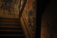 Graffiti Stairwell (Reid A.) Tags: park urban hospital island graffiti long destruction kings exploration asylum psychiatric