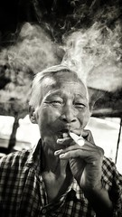 The Photographs of Scott Lumley (scott.lumley) Tags: bw thailand cigar olympus micro 43 m43 mzuico