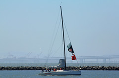 Sailboats on San Pablo Bay_002 (Walt Barnes) Tags: skyline sailboat canon eos boat scenery vessel richmond calif sail sanpablobay 60d millerknox canoneos60d eos60d wdbones99