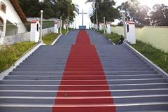 Escadaria de acesso  Igreja de Sa