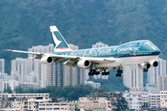 Cathay Pacific | Boeing 747-200 | B-HIB | The Spirit of Hong Kong 97 livery | Hong Kong Kai Tak (Dennis HKG) Tags: plane airplane hongkong airport aircraft cx boeing cathay boeing747 hkg 747 kaitak cathaypacific planespotting cpa 747200 boeing747200 vhhh vhhx bhib