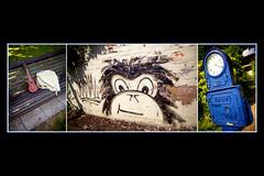 parklife (khrawlings) Tags: khrawlings 2013 westmidlands blackcountry walsall arboretum park graffiti ukelele monkey clock