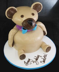 Shaped Teddy Bear Cake (butterflybakeshop) Tags: birthday nyc newyorkcity cake toy 3d shaped bakery teddybear themed scuplted customcake butterflybakeshop