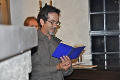 Poet and STNC Boardmember Joe Decenzo reads the work of John McGroarty at the Sweet Talk dessert fundraiser at McGroarty Arts Center (MS KRYSTEE CLARK) Tags: art dinner dessert community poetry terrace historic leaders celebrate fundraiser sweettalk silentauction sunlandtujunga mcgroarty krystee krysteeclark felipefuentes