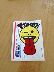 (Tooth!) Tags: graffiti sticker tag trading slap trades uploaded:by=flickrmobile flickriosapp:filter=nofilter