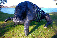 Aurochs by Sarah Ballas (Mark Tindale) Tags: sculpture art sydney bull plastic wharf publicart sydneyharbour woolwich outdoorsculpture parramattariver clarkespointreserve huntershillharboursculpture