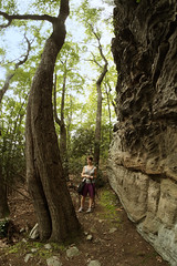 coopers rock (simple pleasure) Tags: trees rock saturday fisheye westvirginia jenn django daytrip rokinon