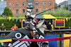 Human Target and a well broken lance! (jamesdonkin) Tags: horse public animal costume action leeds medieval tournament lance knight armour jousting stunt royalarmouries platemail trickriding stuntriding stacyevans historicalgarb fullplatearmour
