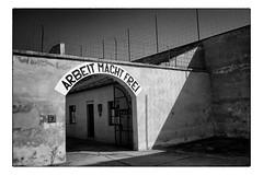 Terezin Arbeit Macht Frei (Ian_Boys) Tags: bw death holocaust republic fuji czech prague wwii ww2 jewish theresienstadt fujifilm terezin x100s