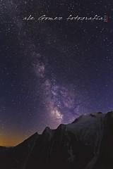 Las puertas de Tannhauser (aLe gomez Fotografia) Tags: italy mountain france alps night canon stars ale galaxy courmayeur chamonix mont blanc milkyway fotografianocturna alegomez