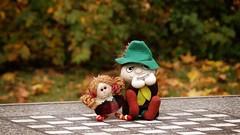in the park (JoannaRB2009) Tags: park autumn fall toy puppet chess poland polska lodz snufkin d jesie szachy zabawka parkjulianowski wczykij maskotka parkimamickiewiczaw
