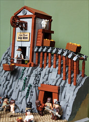 Lake Worth Gold Mine (Fianat) Tags: wild lake west tree gold mine lego western worth supervisor slave moc afol
