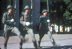 Goose-Stepping to Remember the Victims of Fascism (East Berlin, 1968) (Bill in DC) Tags: berlin ddr 1968 kodachrome64 neuewache