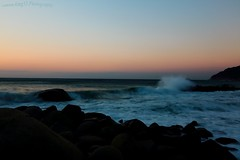 !!! Sea in the morning !!! (canon.king53) Tags: morning sea sky orange rock japan canon eos ef1635 5d3
