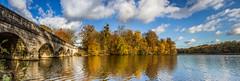 Five Arch Bridge panorama (markhortonphotography) Tags: park bridge autumn lake water canon landscape surrey 7d windsorgreatpark virginiawater fivearchbridge royallandscapes eos7d 1585mm sirjeffrywyattville