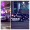 Right outside our baggage claim, LAX term 5. These are the 2 cars involved if anyone gives a care.
