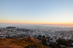 Sunrise at Twin Peaks (spieri_sf) Tags: sanfrancisco california morning sunrise twinpeaks 2013 flickr10 nikond7000 twinpeakssummit
