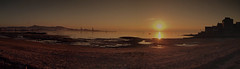 Panoramica O Carril (manuelmoronho) Tags: dog praia atardecer perro galiza paraiso carril decembro