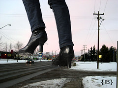 wintrbts2 (iffelbuffer) Tags: road car high boots heels stony stomp crush plain giantess