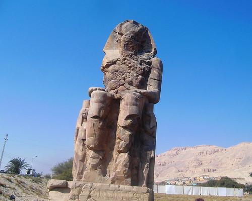 Ägypten, Luxor, Memnonkolosse - Egypt, Luxor, Colossi of Memnon