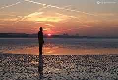 Another Place0049 (chris fearnehough) Tags: sunset liverpool sunrise crosby antonygormley anthonygormley anotherplace gormleystatues ironmanstatues